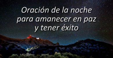 oracion de la noche