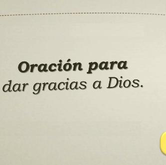 oracion de gratitud
